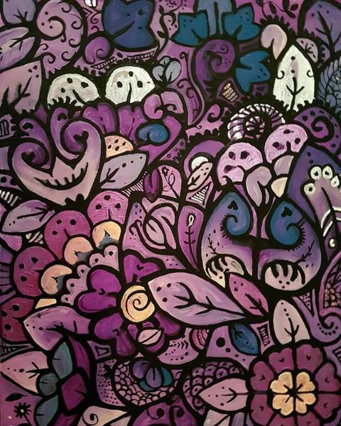 Painting - Purple by Carole Hutchison
