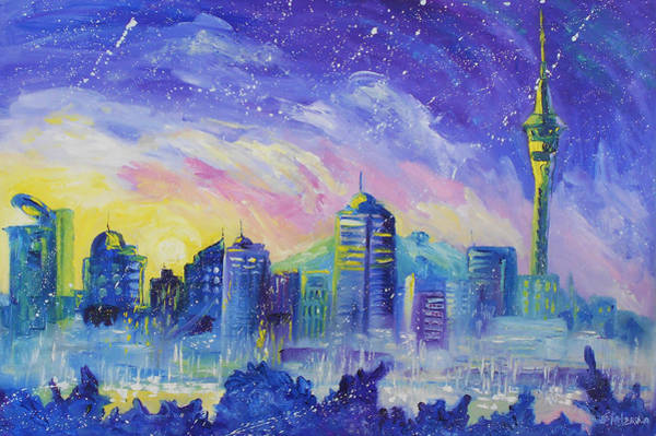 Painting - Purple City by Ekaterina Chernova