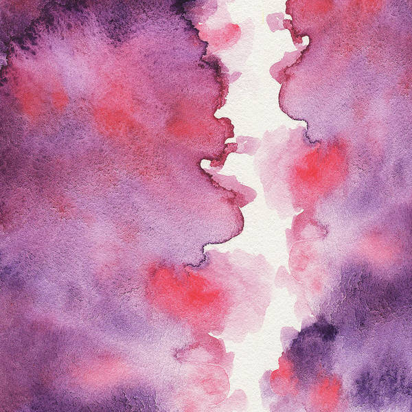 Painting - Purple Clouds Abstract Watercolor by Irina Sztukowski