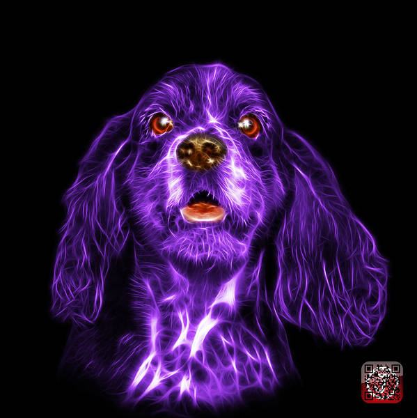 Mixed Media - Purple Cocker Spaniel Pop Art - 8249 - Bb by James Ahn