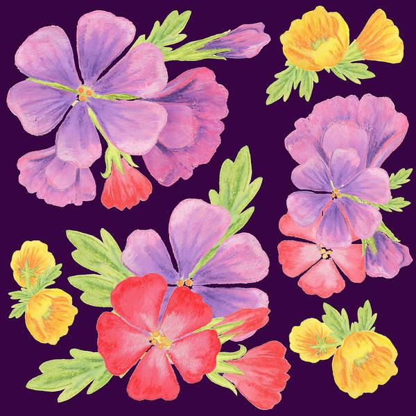 Wall Art - Painting - Purple Dance Flowers  by Irina Sztukowski