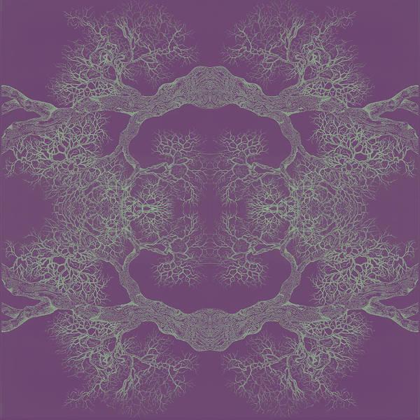 Purple Desire Tree 8 Hybrid 1 Art Print