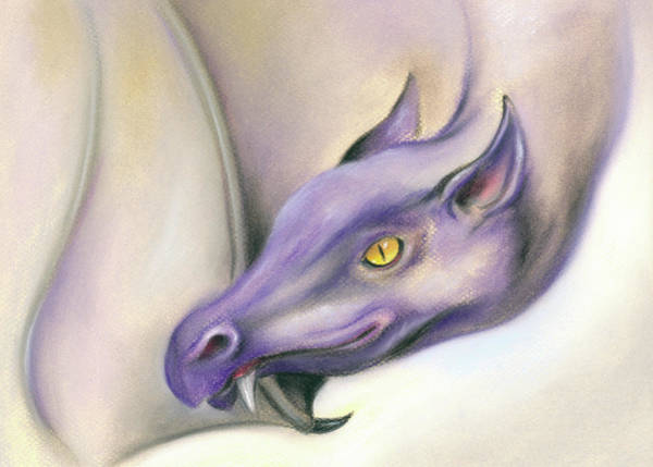 Pastel - Purple Dragon On The Wing by MM Anderson