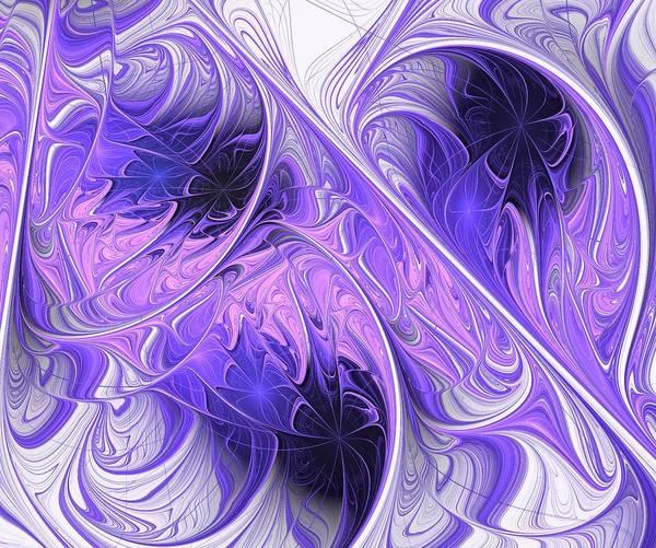 Psychedelia Digital Art - Purple Dream by Anastasiya Malakhova
