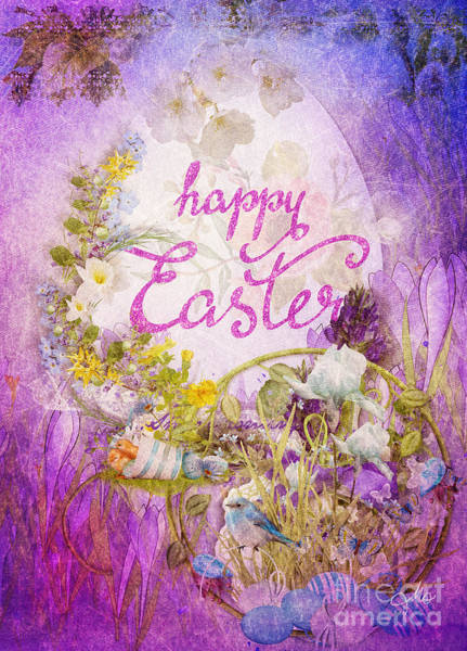 Alleluja Painting - Purple Easter by Mo T