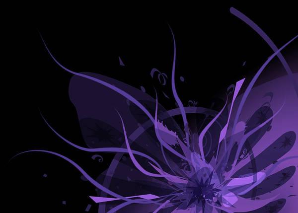 Digital Art - Purple Explosion by Karla White