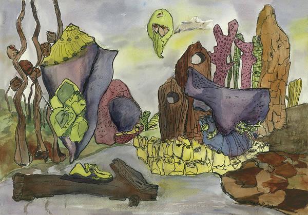 Painting - Purple Fantasy Landscape by Sheila Finkelstein