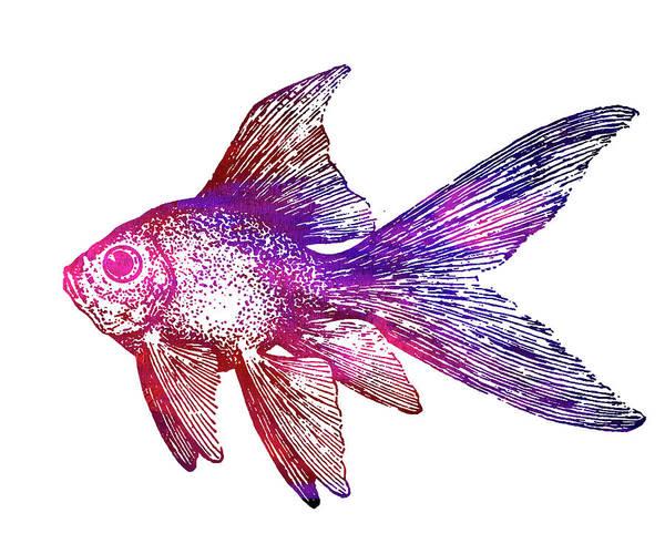Wall Art - Digital Art - Purple Fish by Nancy Merkle