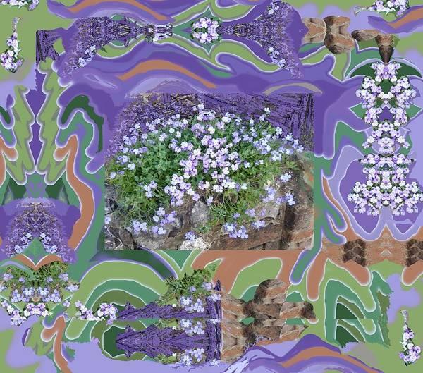 Digital Art - Purple Flower Textured Photo 1028d by Julia Woodman
