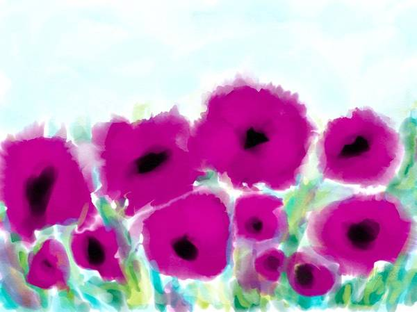 Digital Art - Purple Flowers by Cristina Stefan