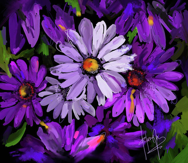 Painting - Purple Flowers by DC Langer
