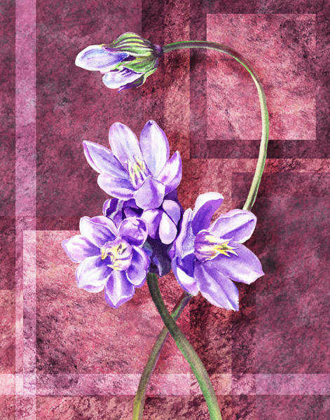 Painting - Purple Flowers Decor by Irina Sztukowski