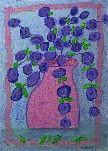 Faith Healing Mixed Media - Purple Flowers- Greeting Card by Ian Roz
