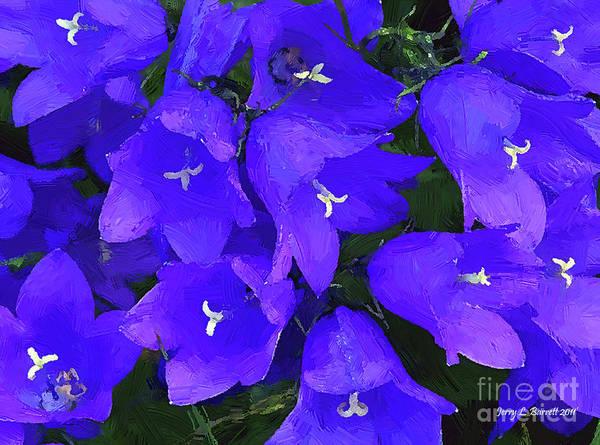 Mixed Media - Purple Flowers by Jerry L Barrett