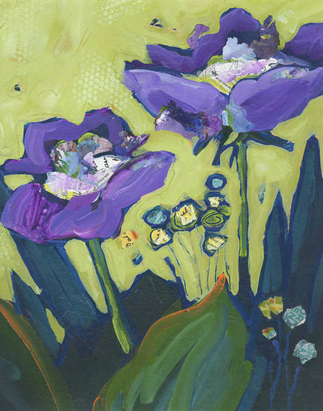 Painting - Purple Flowers by Shelli Walters