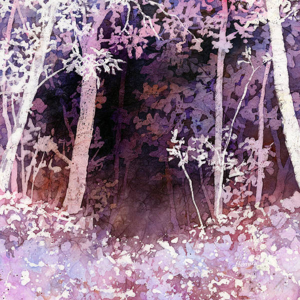 Wall Art - Painting - Purple Forest by Hailey E Herrera