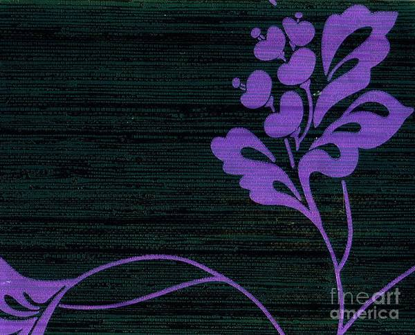 Mixed Media - Purple Glamour On Black Weave by Writermore Arts