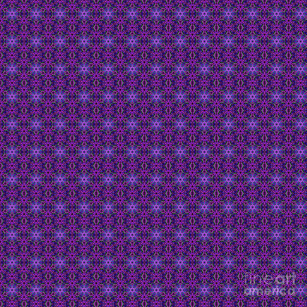 Digital Art - Purple, Green And Blue Repeating Mandala Pattern by Tracey Everington