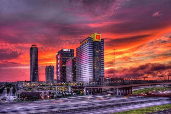 Atlanta Symphony Orchestra Photograph - Purple Haze Atlanta Atlantic Station by Reid Callaway