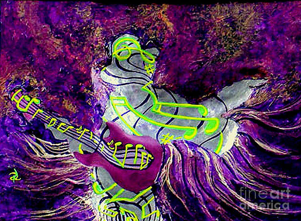 Groovy Mixed Media - Purple Haze by Ron Carter