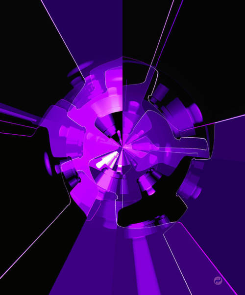 Wall Art - Digital Art - Purple Haze Wheels by Digital Painting