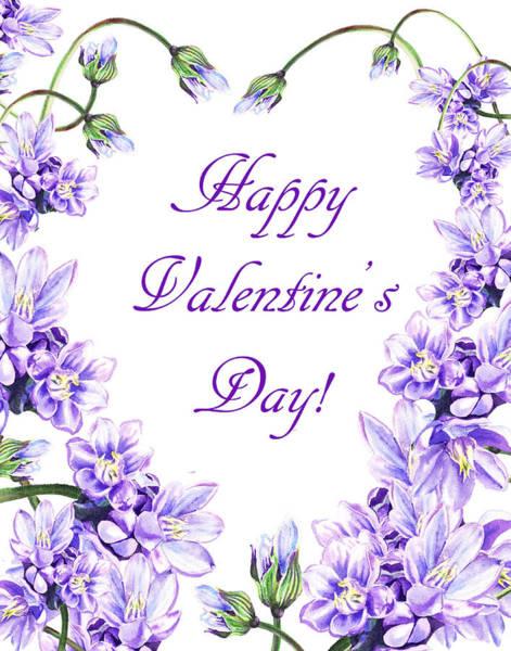 Painting - Purple Heart For Valentine by Irina Sztukowski