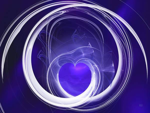 Digital Art - Purple Heart by Menega Sabidussi