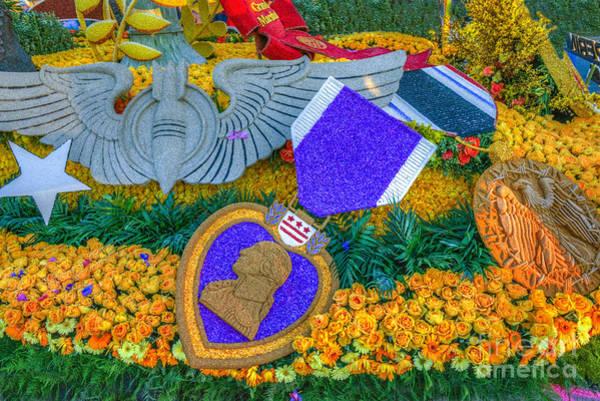 Tournament Of Roses Photograph - Purple Heart Ribbon by David Zanzinger