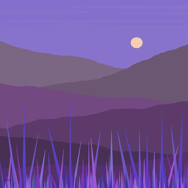 Digital Art - Purple Hills - Lavender Sky by Val Arie