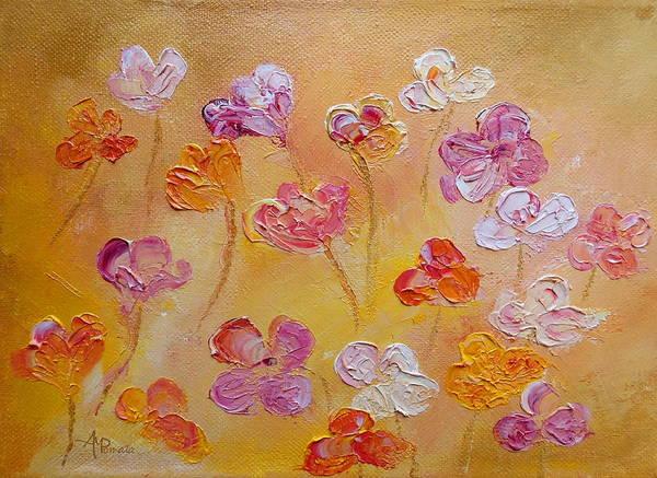 Painting - Purple Honey Thrive by Angeles M Pomata