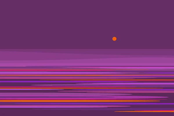 Digital Art - Purple In The Moonlight by Val Arie