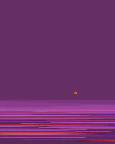 Wall Art - Digital Art - Purple In The Moonlight - Vertical by Val Arie