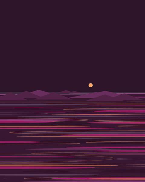 Wall Art - Digital Art - Purple Isle by Val Arie