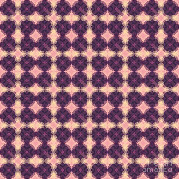 Textura Wall Art - Digital Art - Purple Kaleidosocpe Pattern by Studio Textura