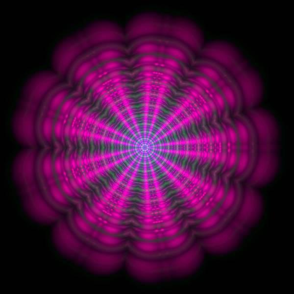 Digital Art - Purple Lightmandala Ripples by Robert Thalmeier