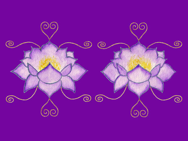 Mixed Media - Purple Lotus by Elizabeth Lock