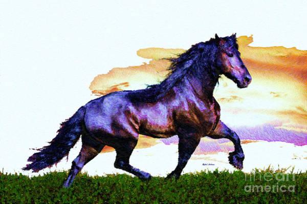Digital Art - Purple Lover by Rafael Salazar