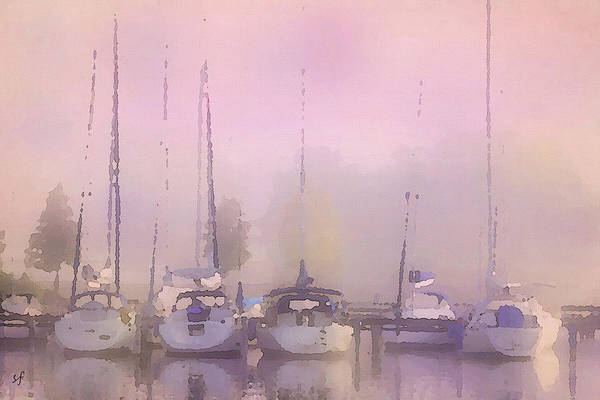 Purple Marina Morning Art Print