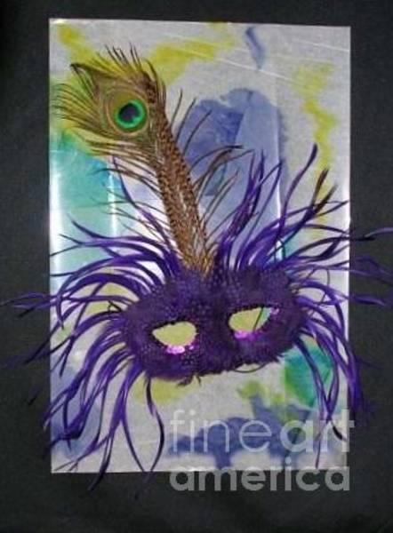 Relief - Purple Mask On Tie Dye  by Rosanne Licciardi