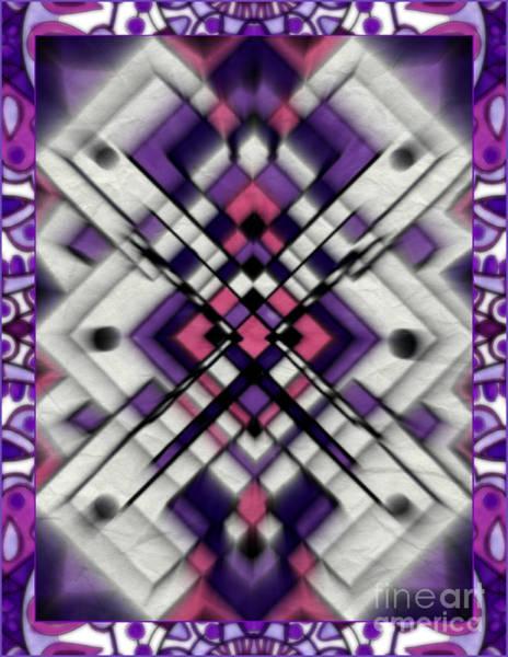 Mixed Media - Purple Maze by Wbk