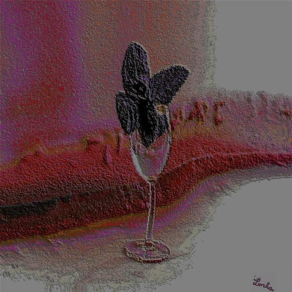 Drunk Mixed Media - Purple Mint by Lenka Rottova