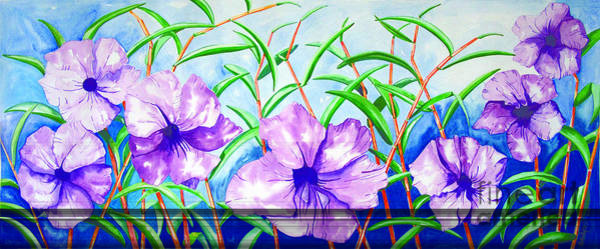 Painting - Purple Morning Flower by Kandyce Waltensperger