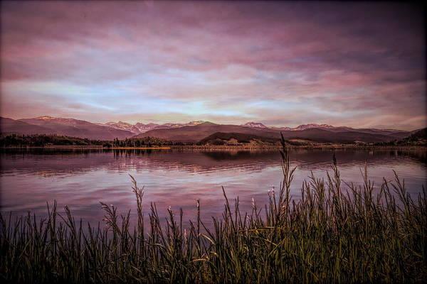 Lake Granby Wall Art - Photograph - Purple Mountain Majesties by Judy Vincent