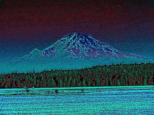 Mounted Digital Art - Purple Mountain Majesty by Tim Allen