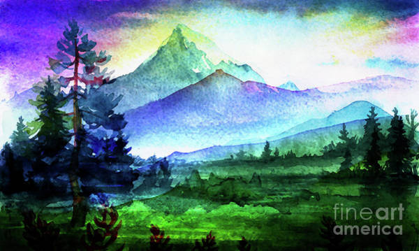 Mixed Media - Purple Mountains Majesty by Digital Art Cafe