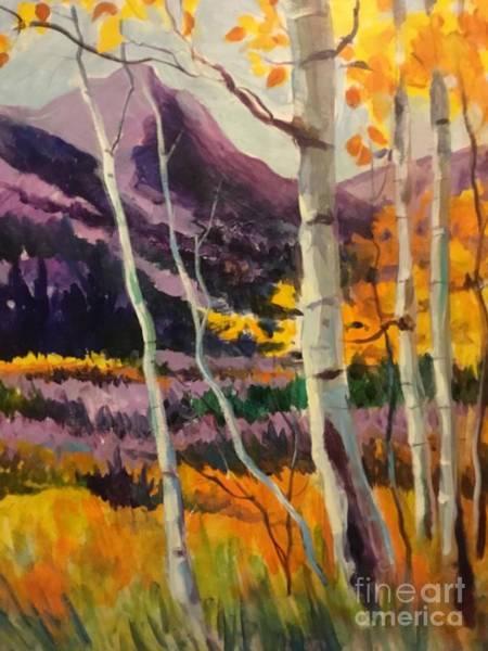 Pikes Peak Painting - Purple Mountains Majesty by Lorraine Danzo