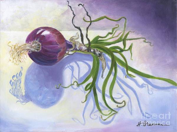 Holly Brannan Wall Art - Painting - Purple Onion by Holly Bartlett Brannan