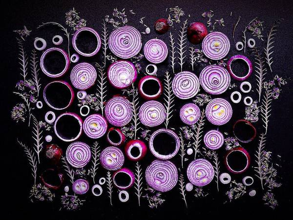 Purple Onion Patterns Art Print