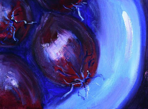 Red Onion Painting - Purple Onions Still Life by Nancy Merkle