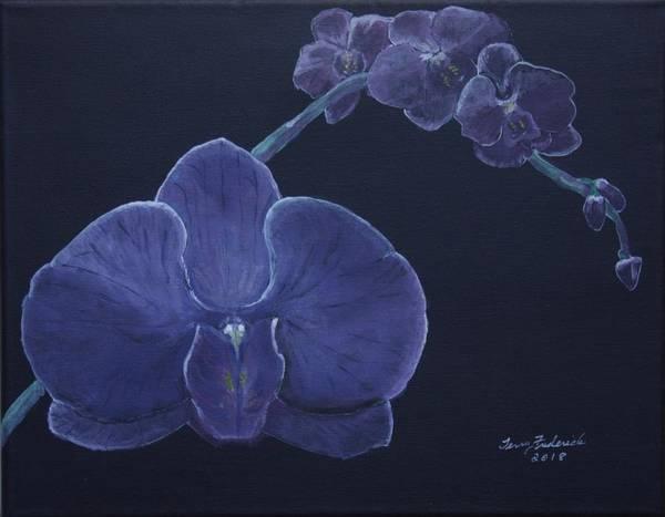 Purple Orchid Art Print